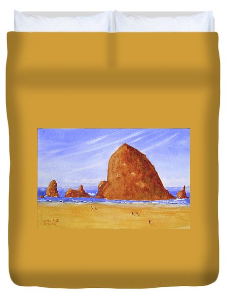 Hay Stack Rock Duvet Cover