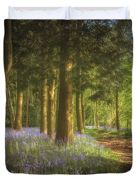 Hay Wood Bluebells 3 Duvet Cover