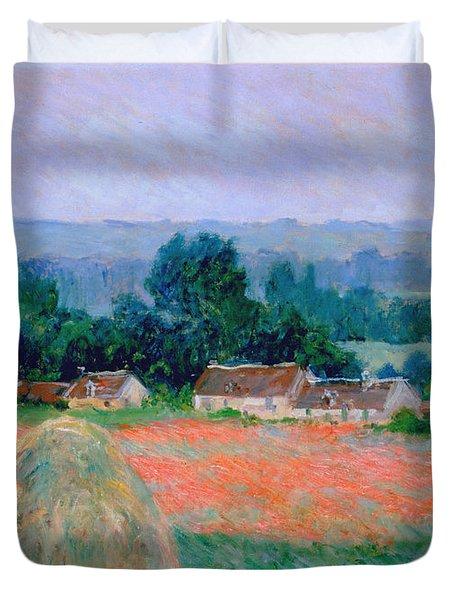 Haystack At Giverny 1886 Duvet Cover