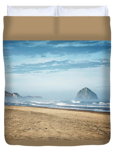 Haystack Rock Pacific City Duvet Cover