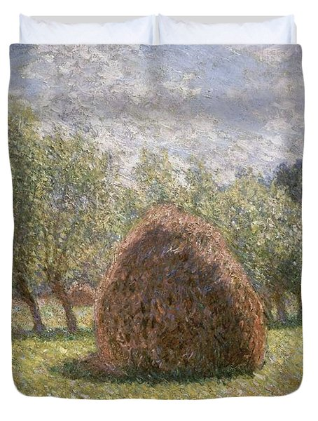 Haystacks At Giverny Duvet Cover