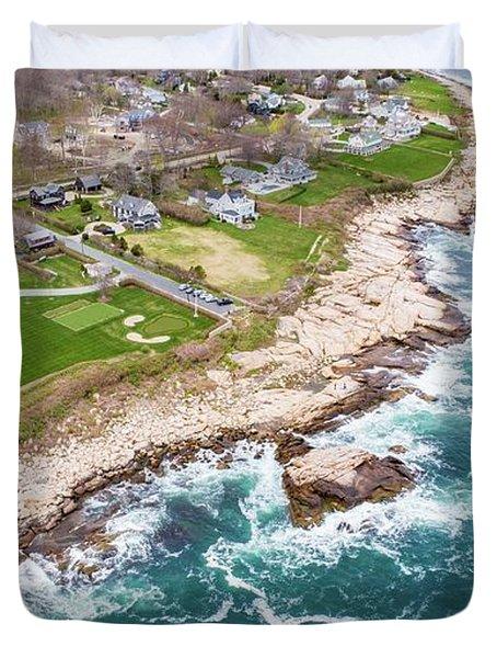 Hazard Rocks, Narragansett  Duvet Cover