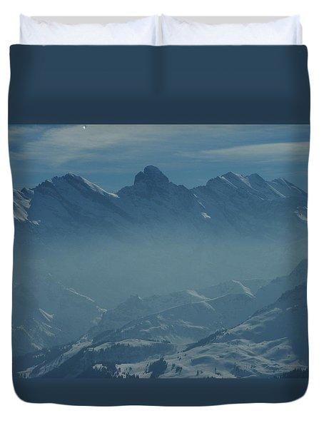 Haze In The Valley Duvet Cover