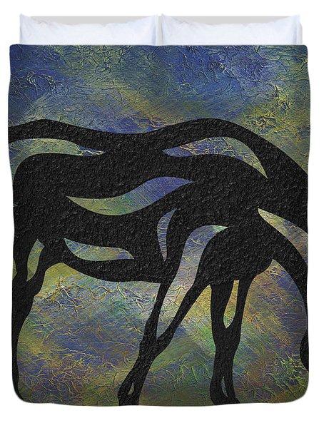 Hazel - Abstract Horse Duvet Cover