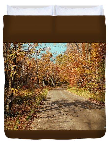 Hazen Notch Summit Road Duvet Cover by John Selmer Sr