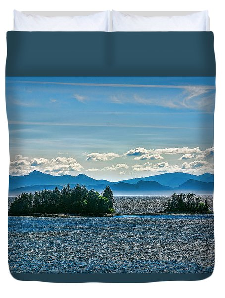 Hazy Alaskan Morning Duvet Cover