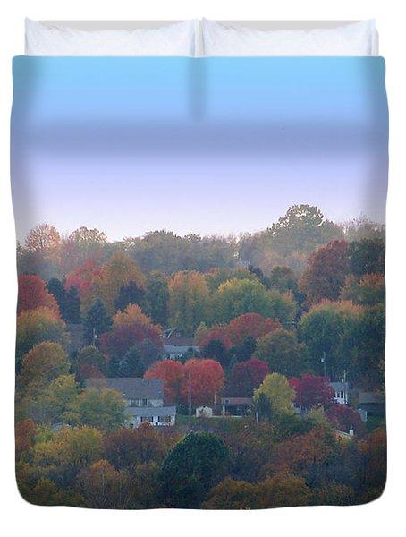 Hazy Autumn Duvet Cover