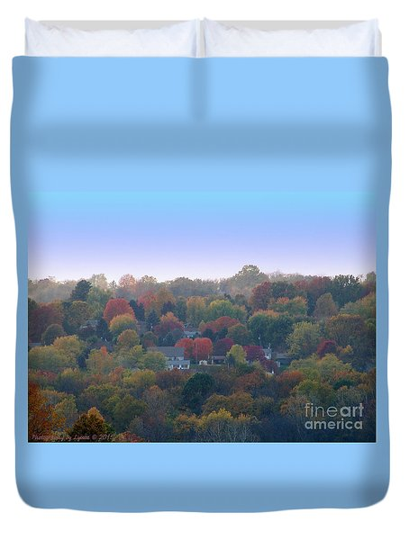 Hazy Autumn Duvet Cover