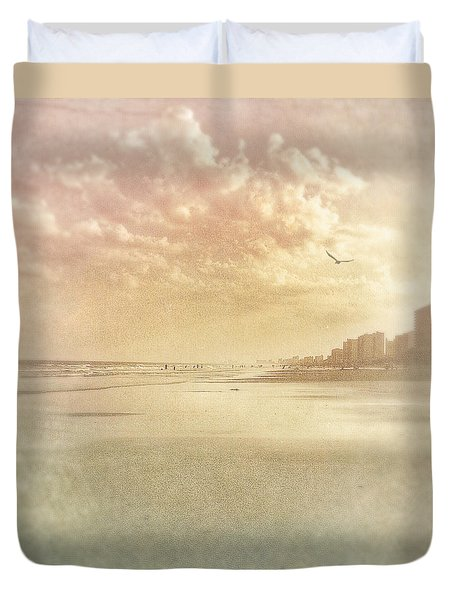 Hazy Day At The Beach Duvet Cover