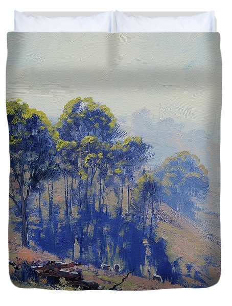 Hazy Light Landscape Duvet Cover