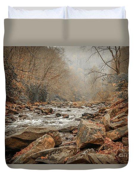 Hazy Mountain Stream #2 Duvet Cover