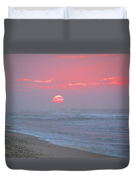 Hazy Sunrise I I Duvet Cover