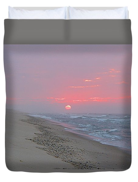 Duvet Cover featuring the photograph Hazy Sunrise by  Newwwman