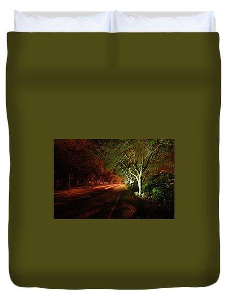 Hb Drive Time Lapse Duvet Cover