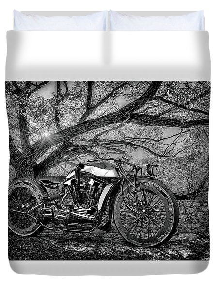 Duvet Cover featuring the photograph Hd Cafe Racer  by Louis Ferreira