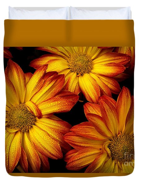 Duvet Cover featuring the photograph Hdr Flowers by Douglas Stucky