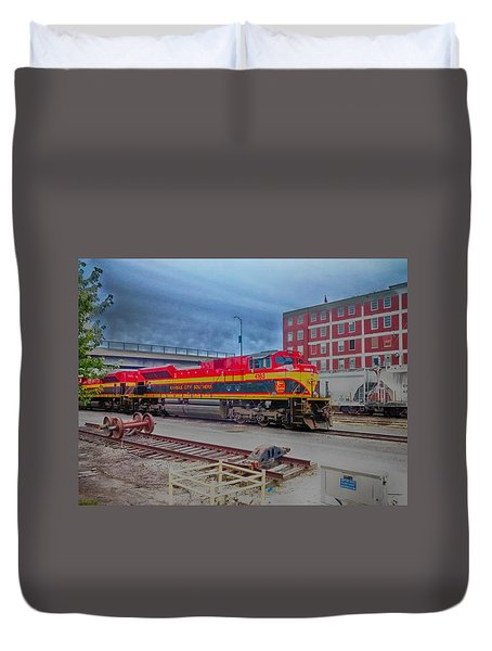 Hdr Fun With Trains Duvet Cover by Dustin Soph