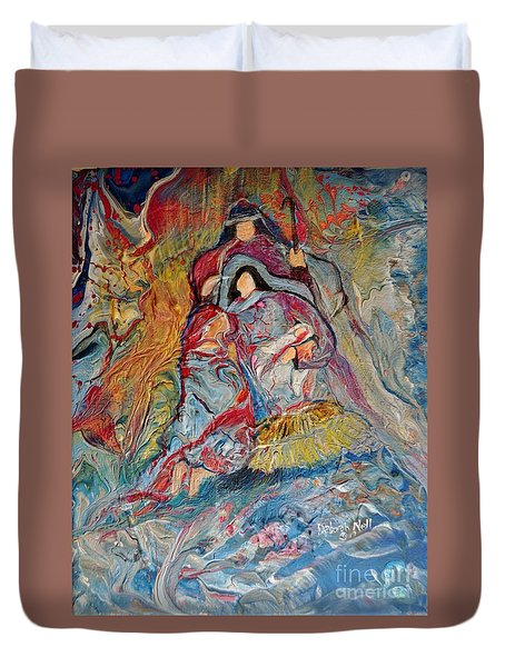 He Dwelt Among Us Duvet Cover