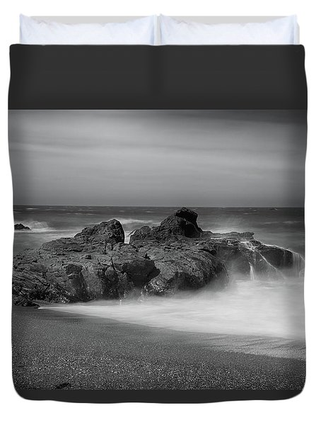 He Enters The Sea Duvet Cover by Laurie Search