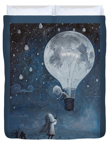 He Gave Me The Brightest Star Duvet Cover by Adrian Borda