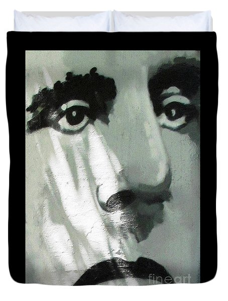 He Is Not Amused Duvet Cover by Ethna Gillespie