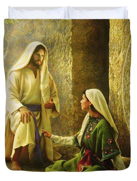 He Is Risen Duvet Cover
