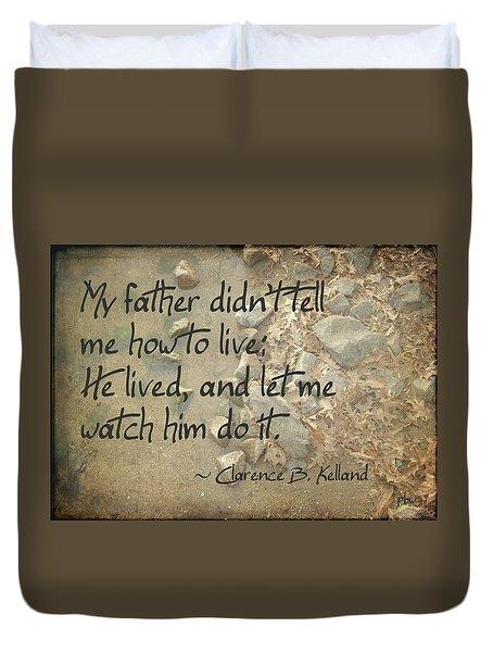 He Let Me Watch Him Duvet Cover
