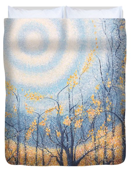 He Lights The Way In The Darkness Duvet Cover