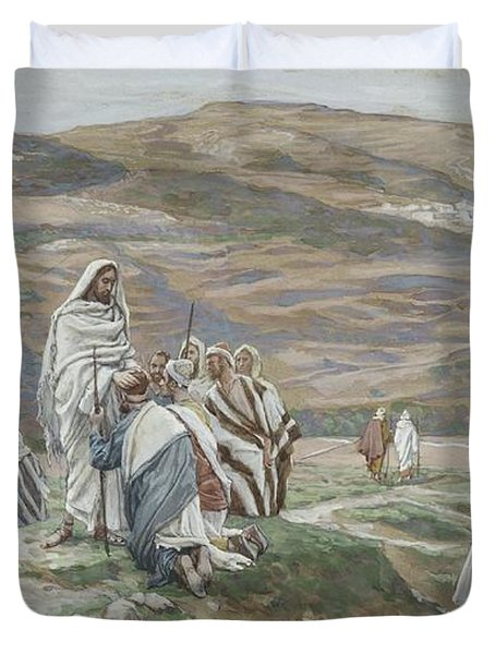 He Sent Them Out Two By Two Duvet Cover by Tissot