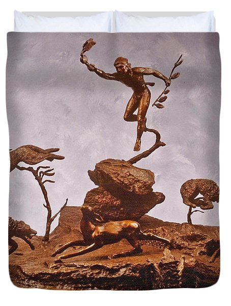 He Who Saved The Deer Complete Duvet Cover