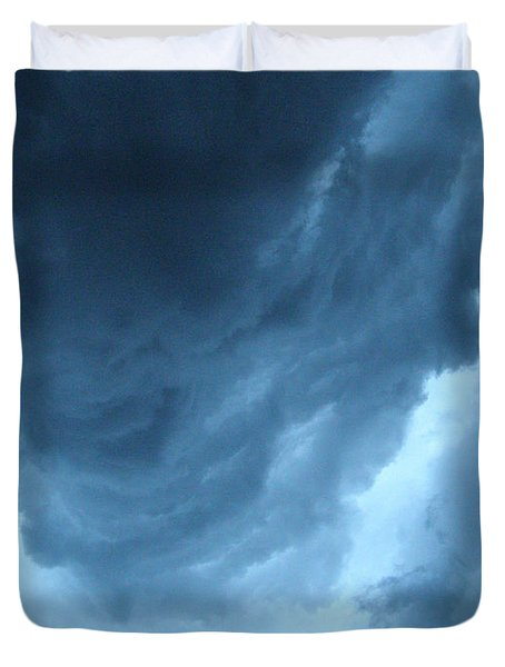 Duvet Cover featuring the photograph Head For Cover by Angie Rea
