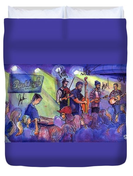Duvet Cover featuring the painting Head For The Hills At Barkley Ballroom by David Sockrider
