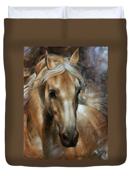 Head Horse 2 Duvet Cover by Arthur Braginsky