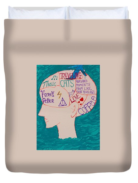 Head In Clouds Duvet Cover by Artists With Autism Inc