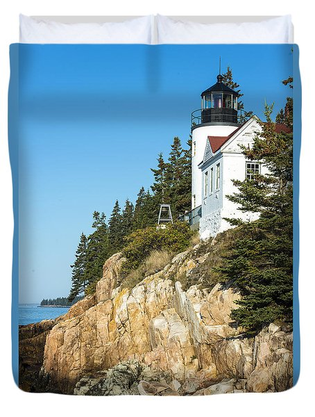 Duvet Cover featuring the photograph Head Lighthouse by Anthony Baatz