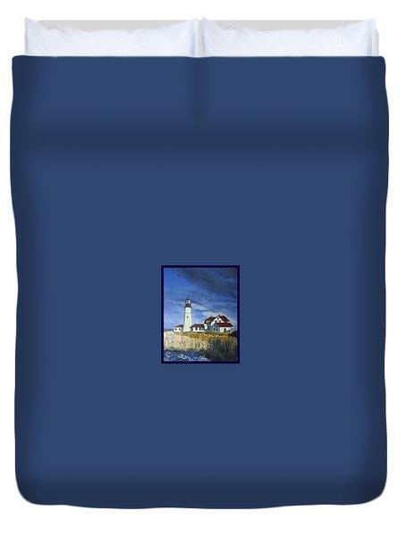 Head Lighthouse  Duvet Cover