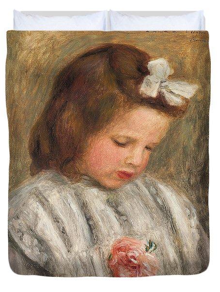 Head Of A Girl, Tete De Fillette Duvet Cover