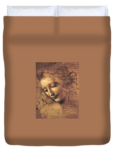 Head Of A Woman Duvet Cover