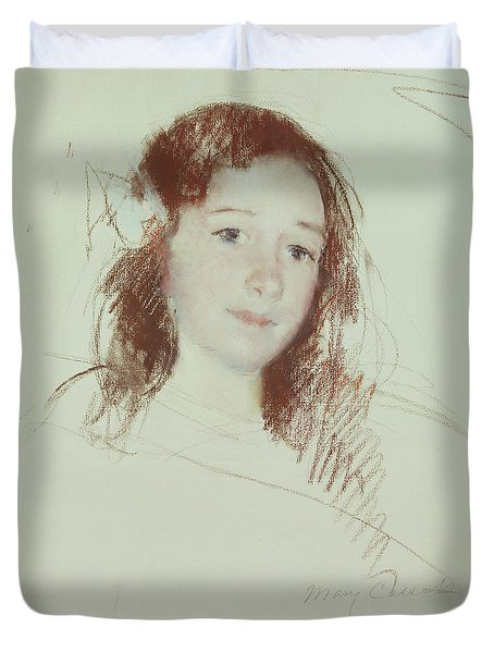 Head Of Adele Duvet Cover