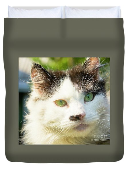 Head Of Cat Duvet Cover