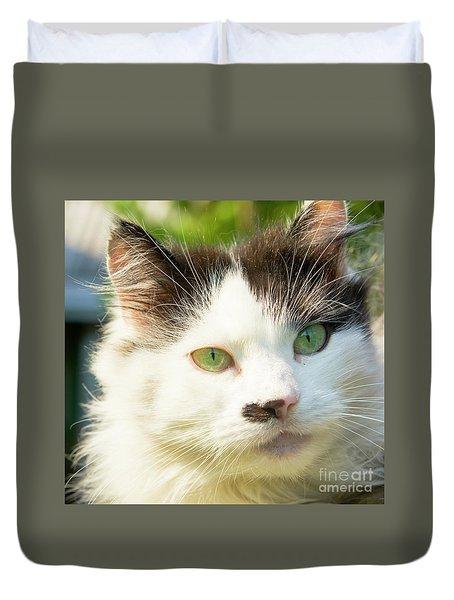 Head Of Cat Duvet Cover by Irina Afonskaya