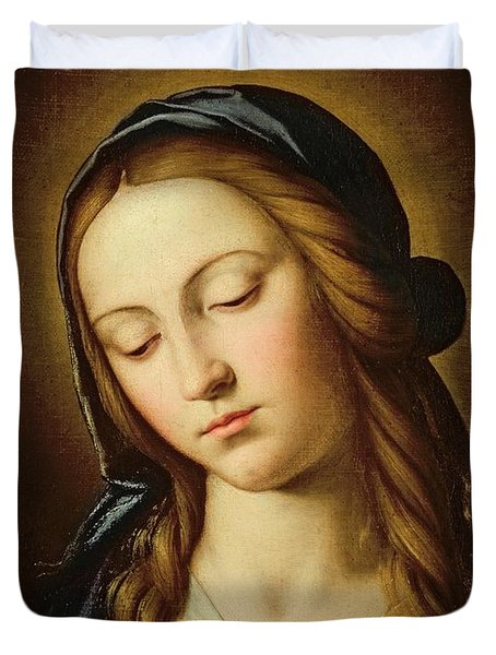 Head Of The Madonna Duvet Cover by Il Sassoferrato