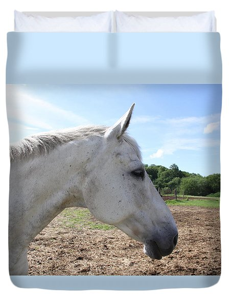 Head Shot Duvet Cover