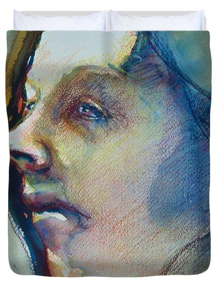 Head Study 7 Duvet Cover