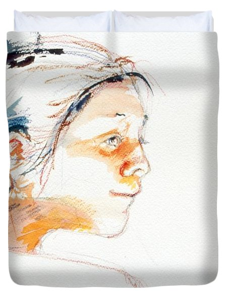 Head Study 9 Duvet Cover