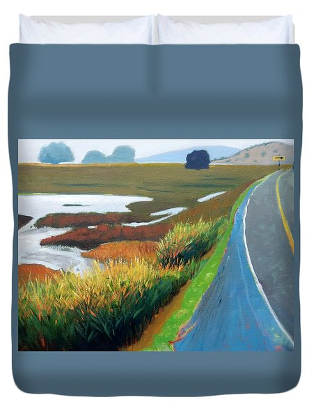 Duvet Cover featuring the painting Heading North by Gary Coleman