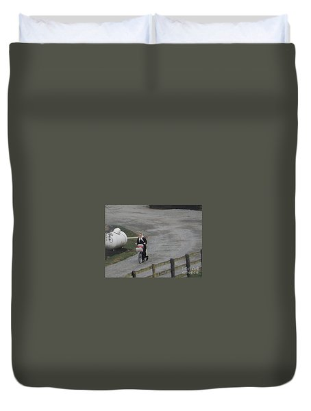 Heading Off To School Duvet Cover