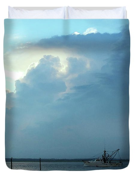 Heading Out Of The Storm Duvet Cover