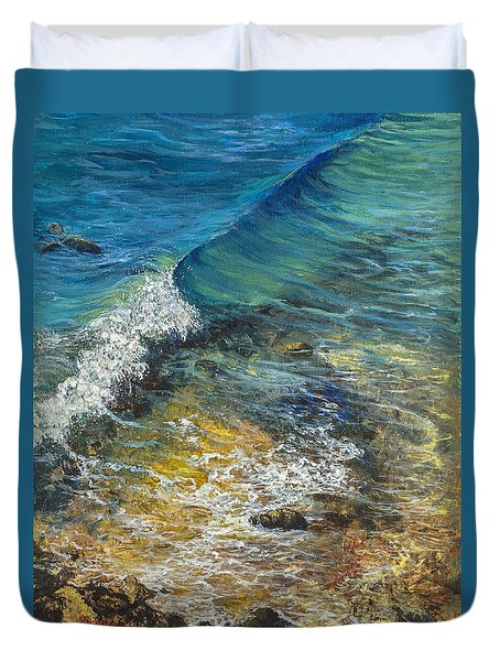 Heading Out To Sea Duvet Cover