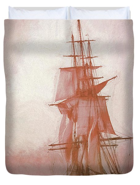 Heading To Salem From The Sea Duvet Cover